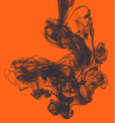 An abstract visual to represent the idea of brewing in Unrattled brand colours orange and navy