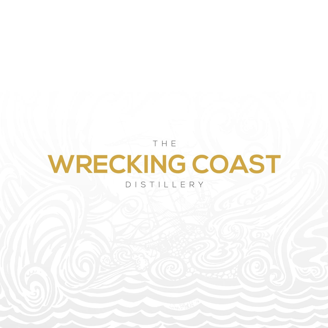 The Wrecking Coast Distillery brand logo on white background