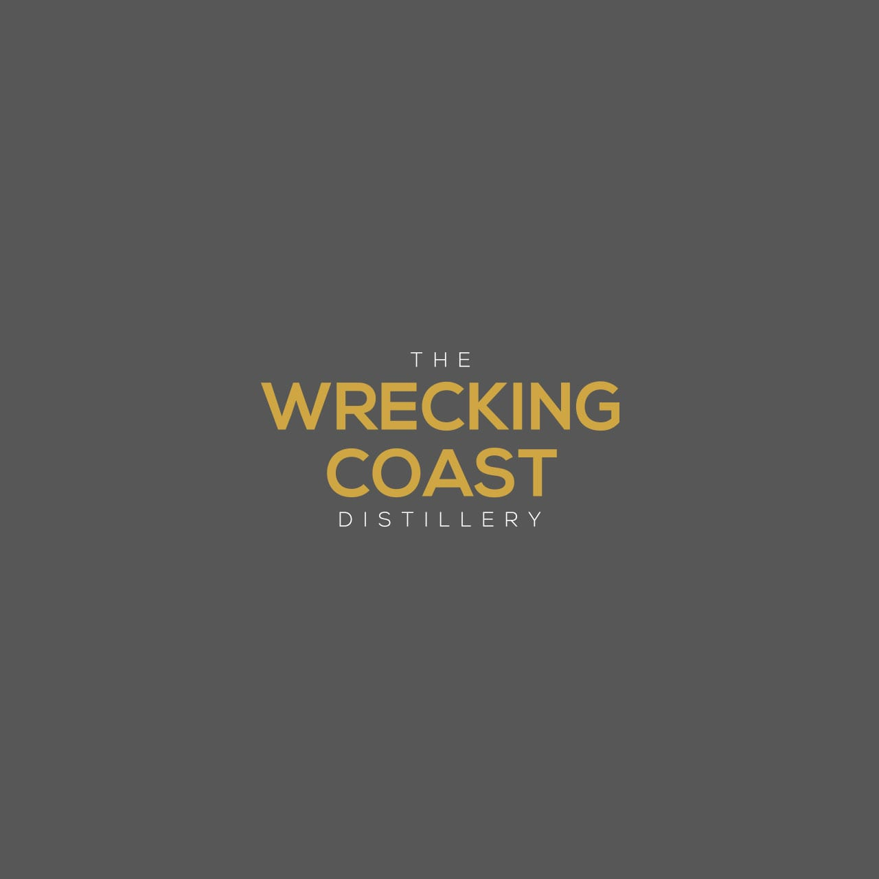 The Wrecking Coast Distillery brand logo on grey background